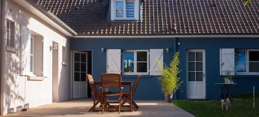 Chambre d'hôtes, table d'hôtes, les beaux jours en Baie de Somme, côté jardin