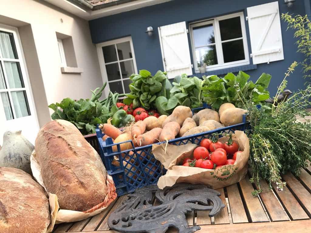 Table d'hôtes les beaux jours en Baie de Somme, les bons légumes de l'AMAP Baie de Somme servis aux beaux jours en Baie de Somme. Le Crotoy, Saint Valery sur Somme, Parc du Marquenterre