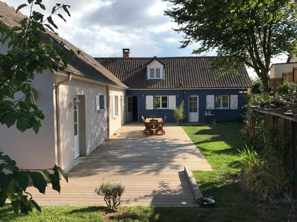 La maison bleue baie de somme stunning location maison st for Baie de somme location maison