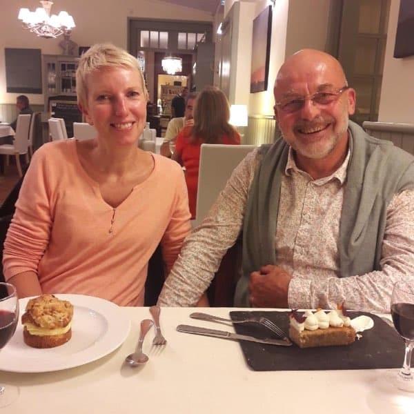 Sarah & Olivier de la chambre d'hôtes les beaux jours en Baie de somme au restaurant des Tourelles au Crotoy